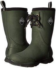Muck Arctic Excursion Green Mid-Height Full Rubber Men's Winter Boots