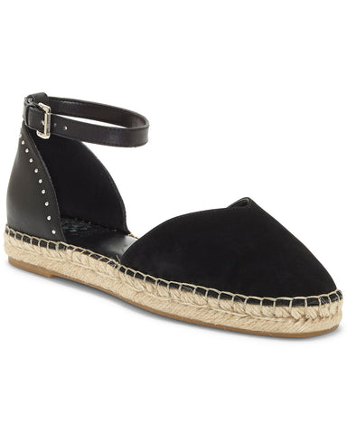 Vince Camuto Arcketta Leather Espadrille Flat Ankle Strap Sandals