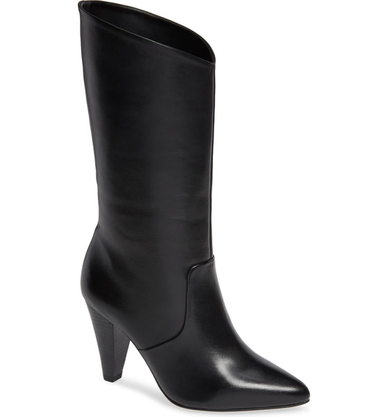 Lust For Life Cayenne Comfortable Angled Top Line Pull On Tapered Heel Boots