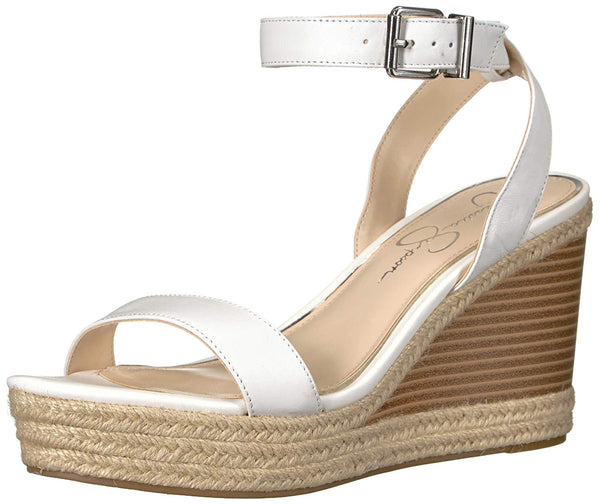 Jessica Simpson Womens Maylra Bright White Nappa Open Toe Platform Heel Sandals