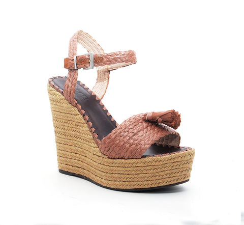 Schutz Womens Diara Brown Open-Toe Strappy Backless Platform Heel Buckle Sandal