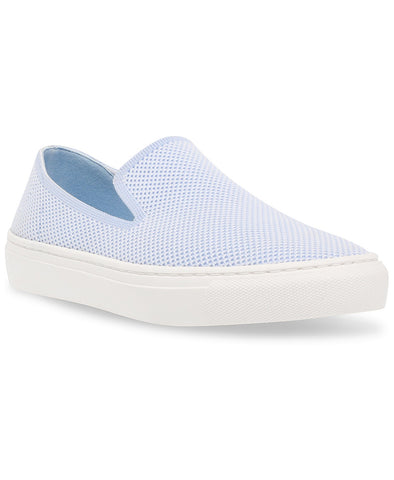Steven By Steve Madden Blue Multi Knit Slip On Loafer Tennis Sneakers