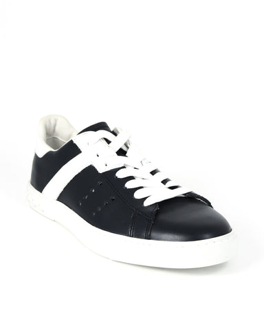 Tod's Men's Allacciato Shoes Leather Trainers Sneakers, BIANCO