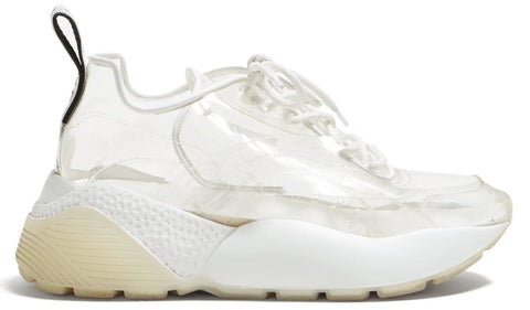 Stella McCartneys PVC Eclypse Sneakers Clear Platfrom Wedge Lace up