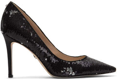 Sam Edelman Hazel Sequin Dress Pumps Black/Pewter (10 B (M) US)