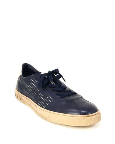 Tod's Men's Allacciato Shoes Leather Trainers Sneakers, GALASSIA Lace Up