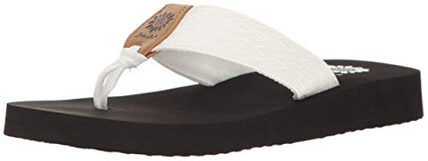Yellow Box Flax Slip On Slide Wedge Sandal White