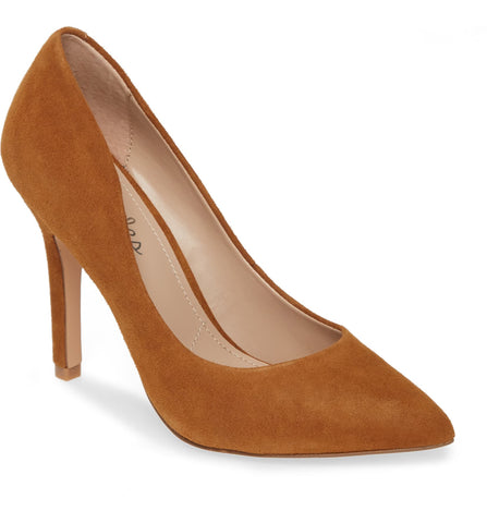 Charles David Maxx Amber Suede Pointy Toe Stiletto Heel Pumps