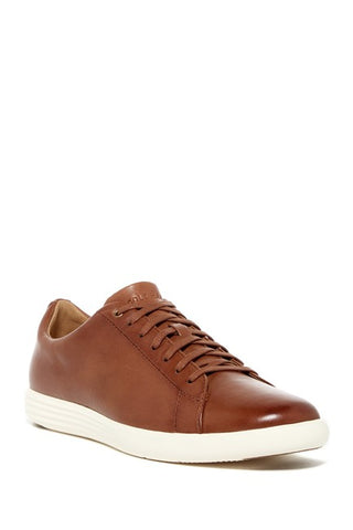 Cole Haan Men's Grand Crosscourt II fashion lace-up Sneakers, Tan Leather Burnsh
