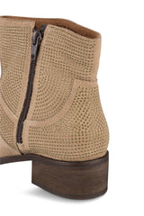 Klub Nico Women's Zola Boots-Oatmeal Suede Nude Chelsea Ankle Bootie