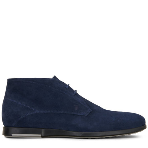 TOD'S  Mens Up Suede Ankle Boots Blue XXM0XS0T480RE09994