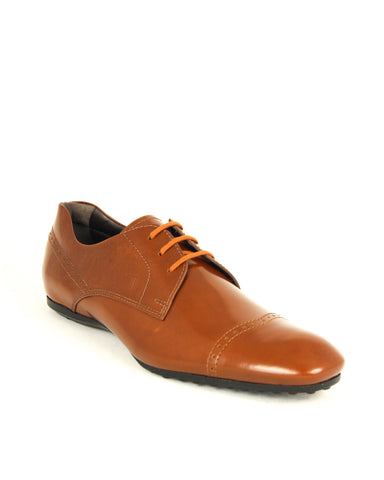 Tod's Men's DERBY Shoes Leather Oxfords Sneakers, CUOIO SCURO XXM0KF0A01ZAKTS003