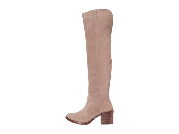 Lucky Women's Lk-Ratann Riding Boot, Brindle Taupe Suede Over Knee Riding Boots