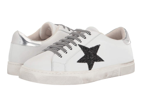 Steven By Steve Madden Rubie Star Lace up Sneaker White Multi Tennis Shoes
