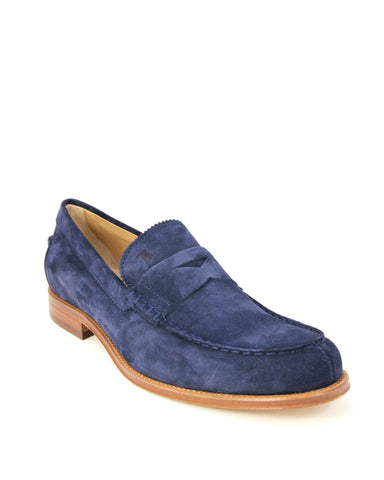 Tod's Men's Gommino Blue Leather Moccasins Loafers XXM0RO00640RE0U820