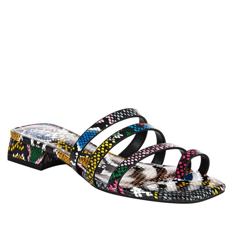 Vince Camuto Women's Grenda Slip-on Flat Slide Open Toe Sandal MULTI