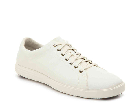 Cole Haan Men's Grand Crosscourt II fashion lace-up Sneakers, White Leather