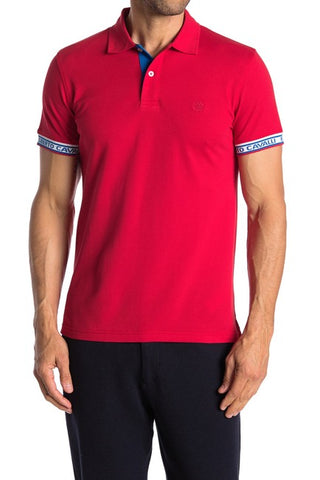 Roberto Cavalli Logo Trimmed Short Sleeve Polo Shirt ROSSO FST644A#20902000
