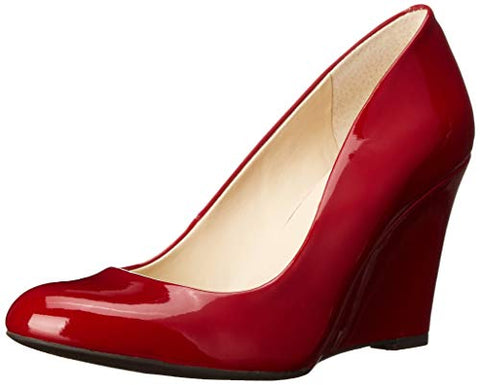 Jessica Simpson Cash Wedge Pump Lipstick Red Patent Low Heel Pump