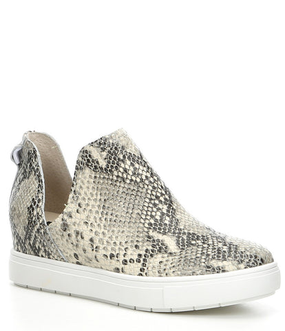 STEVE MADDEN WOMEN'S CANARES CROCO SUEDE SNEAKERS WHITE MULTI