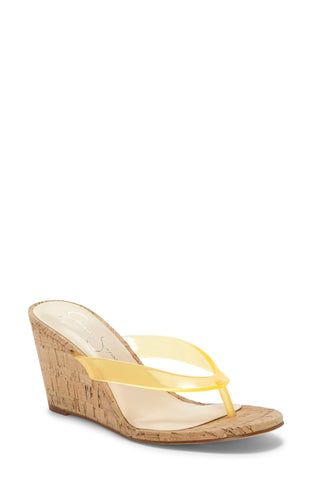 Jessica Simpson Women's COYRIE2 Wedge Heeled Sandals YELLOW