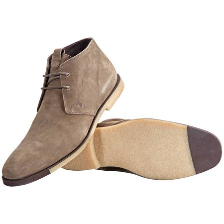 Tod's Men's Polacco Suede Leather Lace Up Desert Boot Shoes