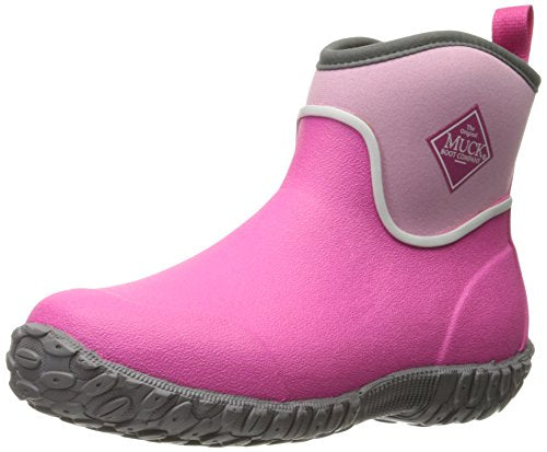 Muck Boot Muckster ll Kid's Rubber Ankle Boots, Pink Waterproof Boots