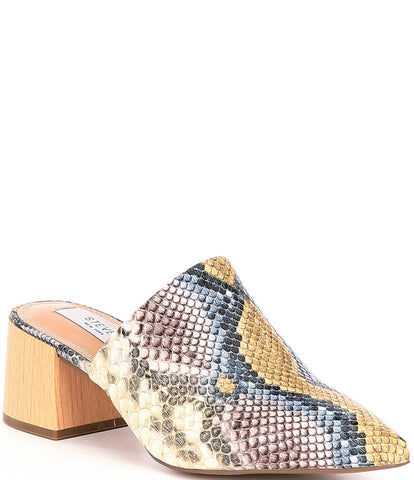 Steve Madden Women's Fannie Slip On Pointed toe Slide Mules BRIGHT MULTI