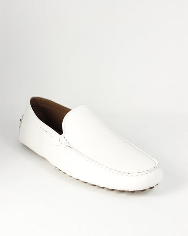 Tod's NUOVO Gommino White Leather Moccasins Loafers XXM0EO0004ZEK0B001