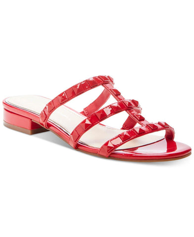 Jessica Simpson Women's Caira 2 Flat Studded Slide Slip On Sandals MARASCHINO