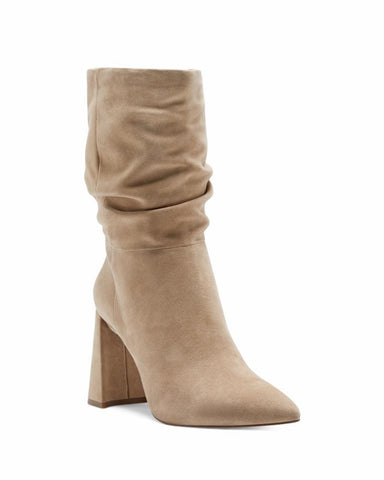 Vince Camuto AMBIE Slouch Pull On Pointed Toe Boot TORTILLA Taupe Bootie