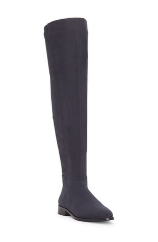 Vince Camuto Hailie Pointed-Toe Over-the-Knee Suede Boots NOCTURNE