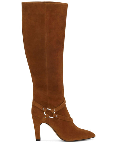 Vince Camuto Charmina Pointed Toe Suede Knee High Boot VINTAGE BROWN
