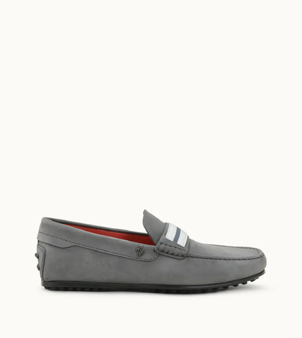Tod's Men's LACCETTO City Gommino Grey SUEDE  Moccasins Loafers