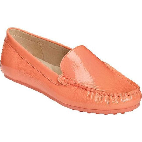 Aerosoles Women's Over Drive Shoe Coral Patent Driver Loafer
