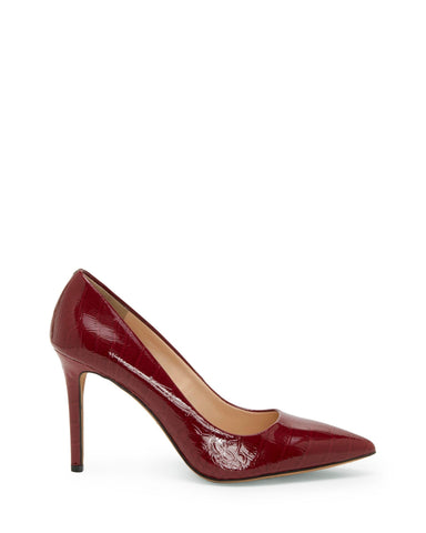 Vince Camuto Women's Savilla  Slip-on Block heel Pump WINE