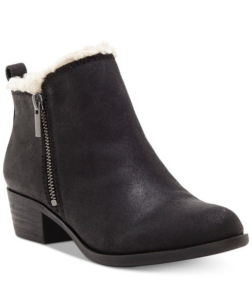 Lucky Brand Basel Sher Women's Boot Black furlined Ankle Bootie
