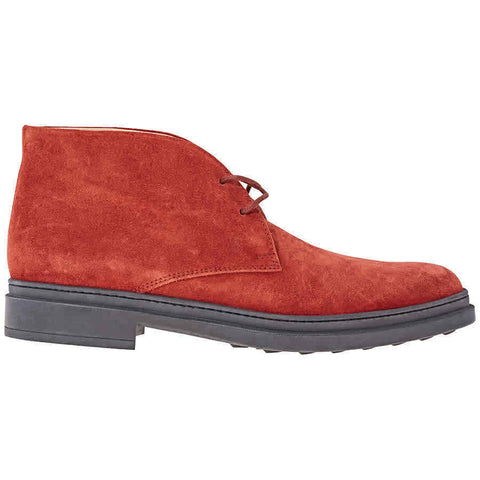 Tod's Men's Suede Lace Up Ankle Boots Dark Terracotta XXM0UI00D80RE0G834