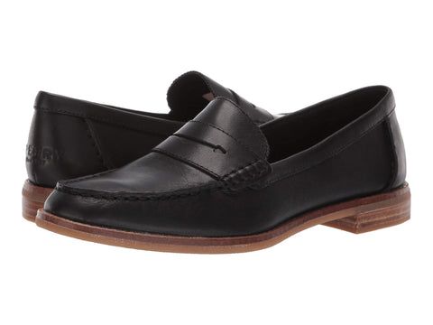 Sperry Seaport Penny Slip On Patent Loafer Shoe BLACK