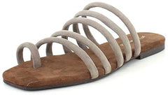 Jeffrey Campbell Womens Coniper Flat Sandal Taupe Suede Open Toe Sandals