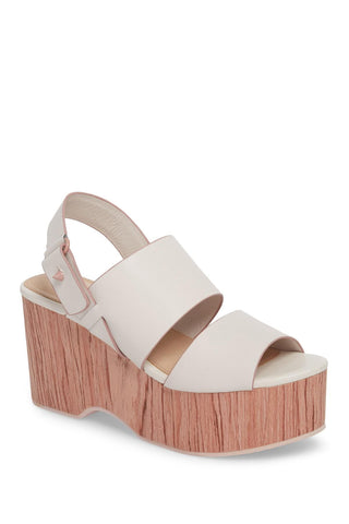 Kelsi Dagger Brooklyn Nash Offwhite Platform Mule Open Toe Heeled Dress Sandals