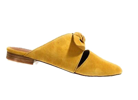 ChaseChloe Fione Yellow Campbell Pointed Knotted Flat Jeffrey Slide Charlin Mule