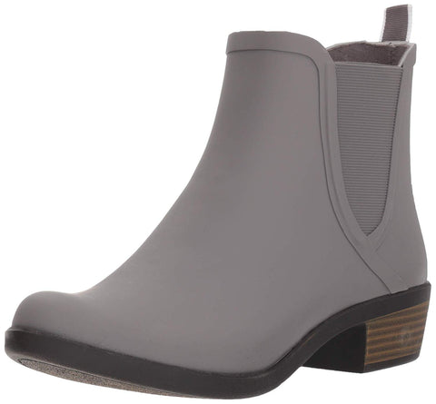 Lucky Brand Basel H20 Titanium Gray Waterproof Pull On Chelsea Rain Snow Bootie