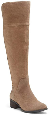 Vince Camuto Bendra Over-the-Knee Tall Shaft Tuscan Taupe Suede Riding Boots