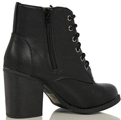 SODA Women's Lurk Black Faux Leather Ankle Booties