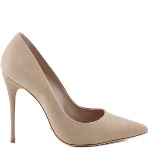 SCHUTZ WOMENS Caiolea, Brush Sand Nude Suede Pointed Toe Dress Pumps
