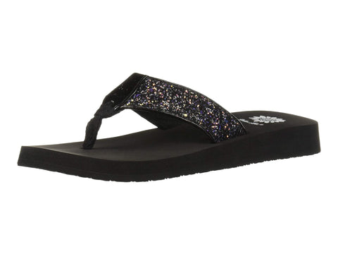 Yellow Box Feliks Flat Slip On Slide Thong Sandal Black