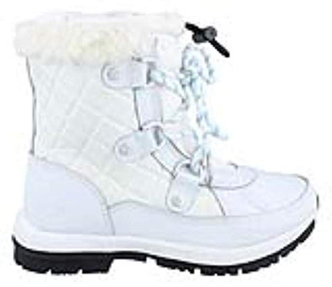 Bearpaw Bethany Youth White Kids Girls Winter Boot Size