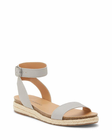 Lucky Brand Women's Garston Espadrille Wedge Flat Sandal CHINCHILLA