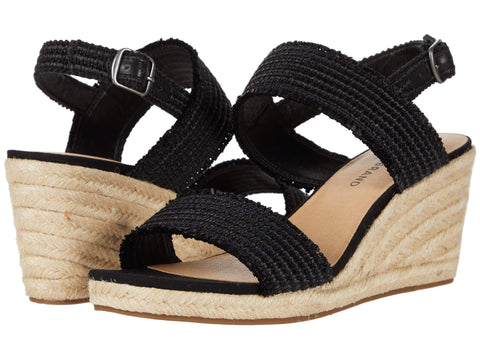 Lucky Brand Women's Minjah Espadrille Jute-Wrapped Wedge Sandal BLACK